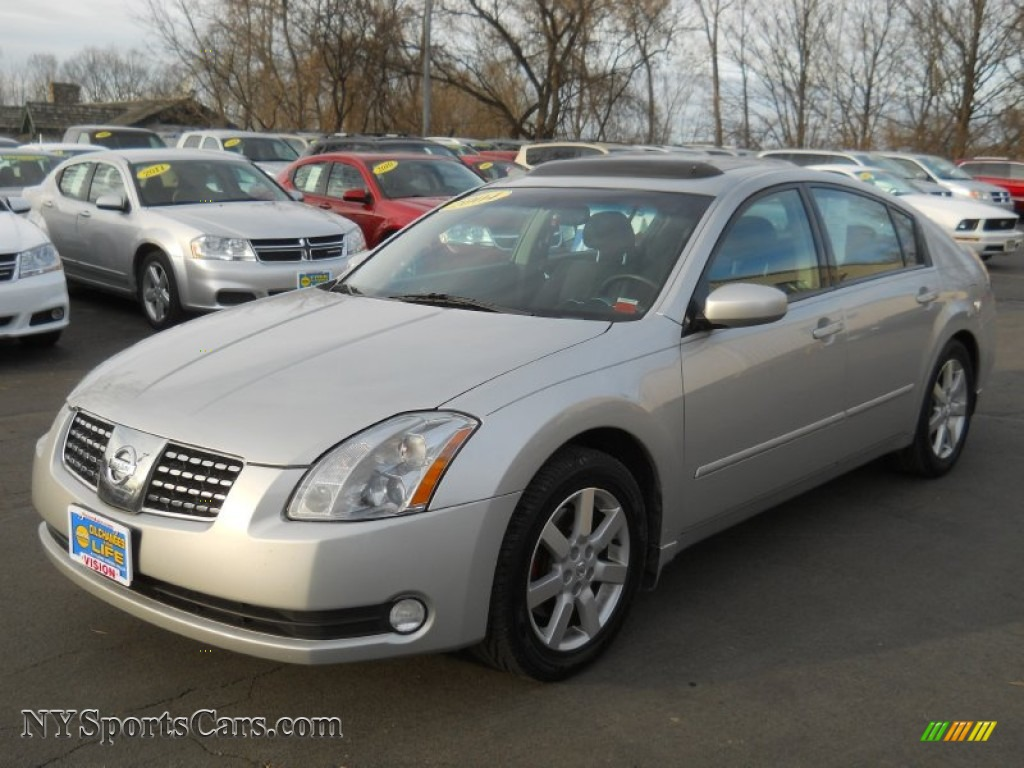 2004 nissan maxima 3 5 sl in liquid silver metallic. Black Bedroom Furniture Sets. Home Design Ideas