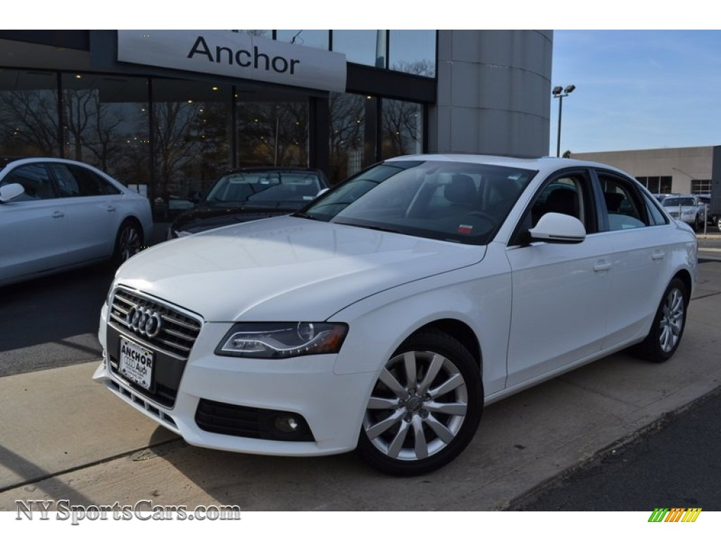 2009 Audi A4 2 0t Premium Quattro Sedan In Ibis White