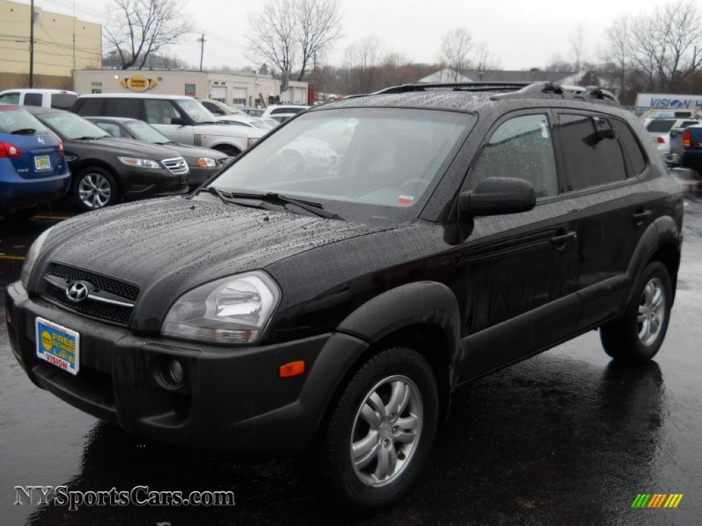 2007 hyundai tucson se in obsidian black metallic 544997. Black Bedroom Furniture Sets. Home Design Ideas