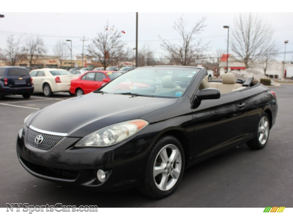 2005 toyota solara sle v6 convertible in black 047678. Black Bedroom Furniture Sets. Home Design Ideas