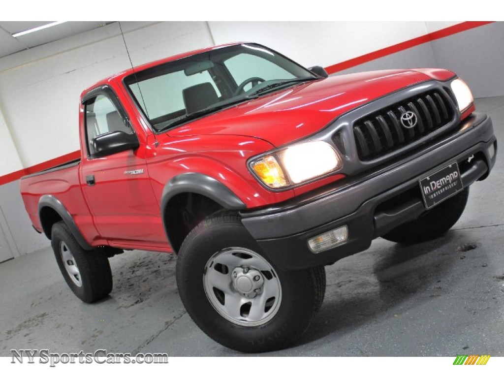 2001 toyota tacoma regular cab 4x4 in radiant red 743903 cars for sale in. Black Bedroom Furniture Sets. Home Design Ideas