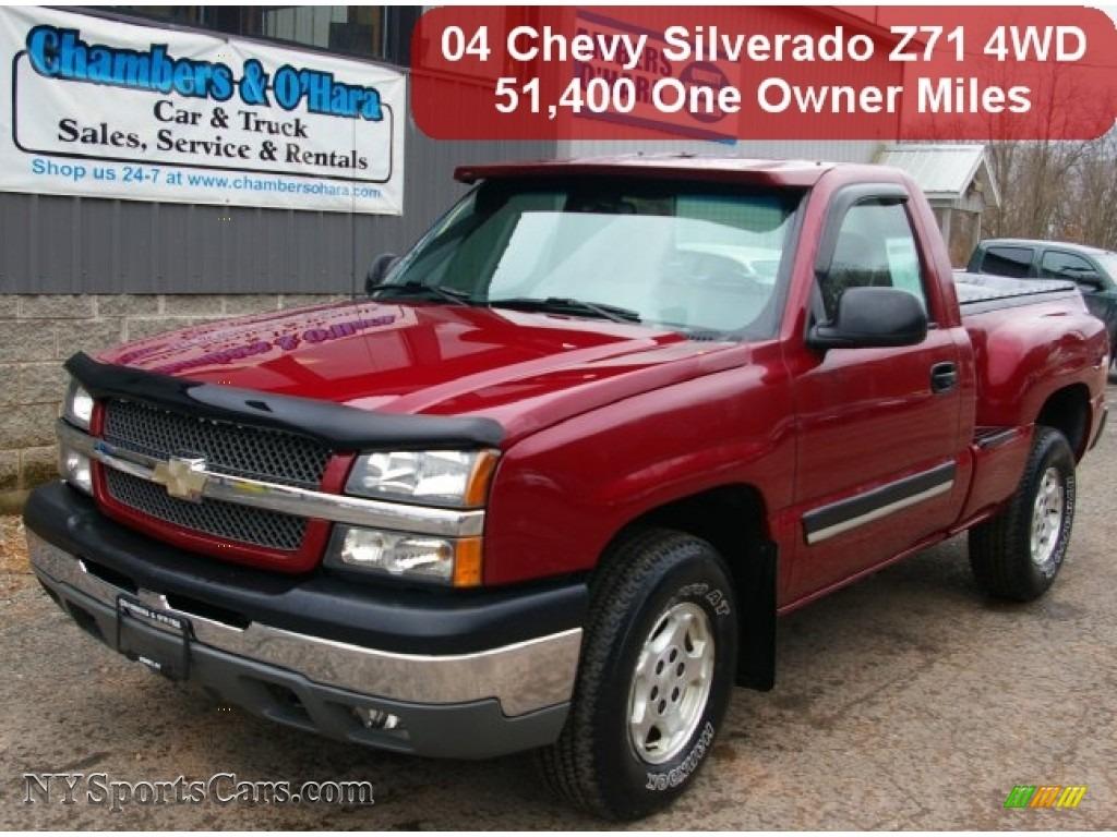 Sport Red Metallic   Dark Charcoal Chevrolet Silverado 1500 Z71 Regular Cab  4x4 c6f5784875b