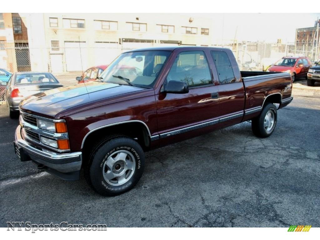 1998 c k k1500 silverado extended cab 4x4 dark carmine red metallic neutral