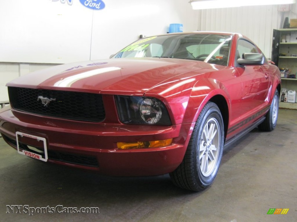 2005 ford mustang v6 deluxe coupe in redfire metallic. Black Bedroom Furniture Sets. Home Design Ideas