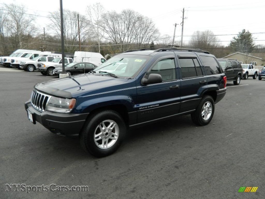2003 jeep grand cherokee laredo 4x4 in patriot blue pearl 538196 nysportscars com cars for sale in new york nysportscars com