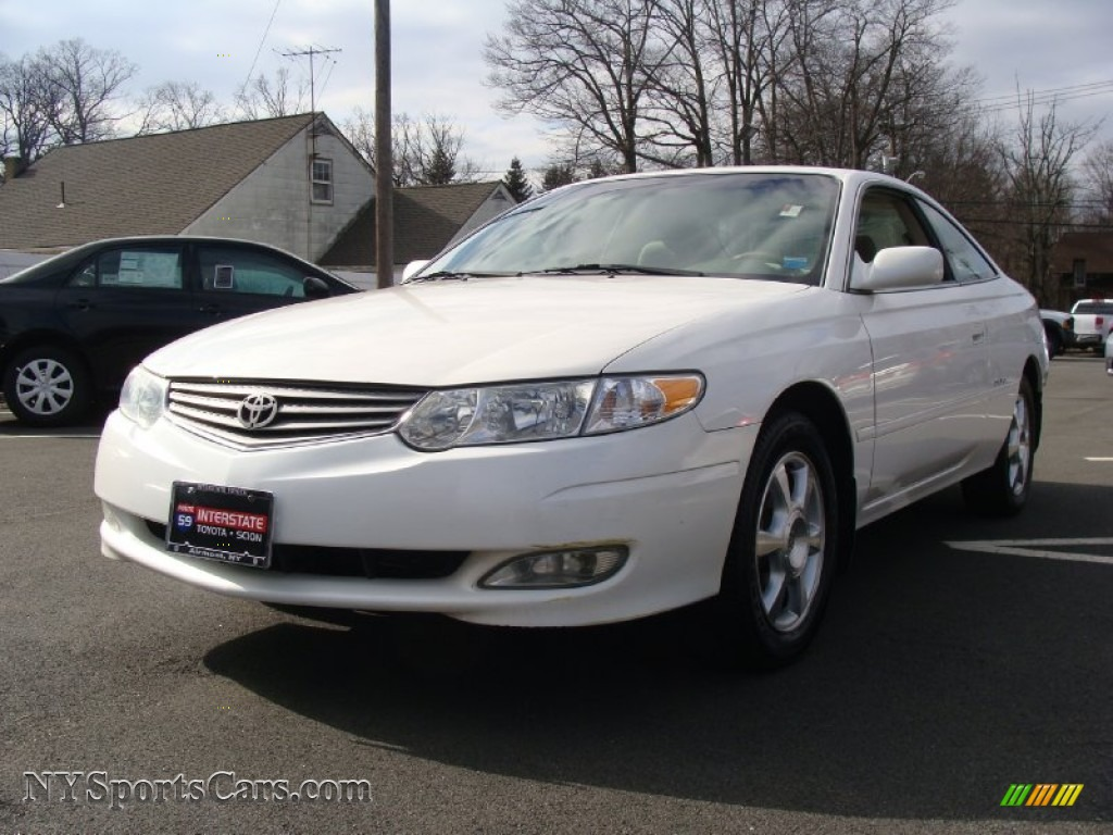 2002 Toyota Solara Sle V6 Coupe In Diamond White Pearl 595382 Nysportscars Com Cars For
