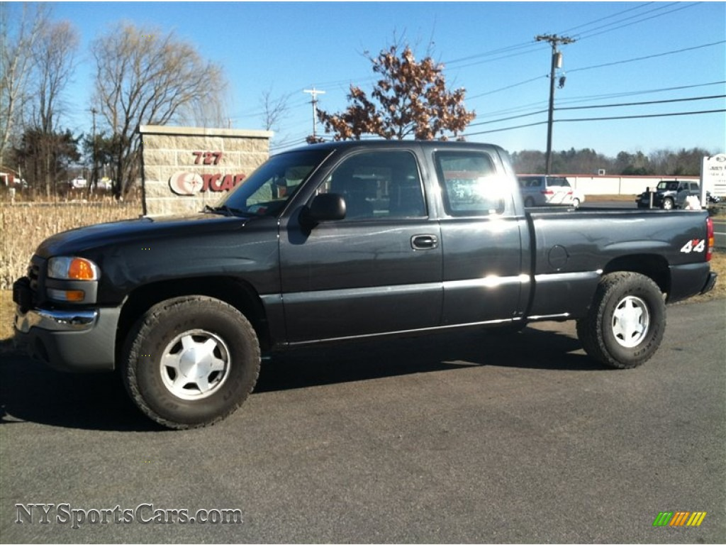 2003 gmc sierra 1500 extended cab 4x4 in carbon metallic 200405 cars for. Black Bedroom Furniture Sets. Home Design Ideas