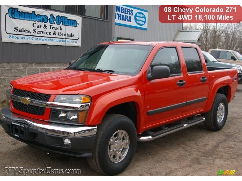 2008 chevrolet colorado lt crew cab 4x4 in inferno orange metallic 175419. Black Bedroom Furniture Sets. Home Design Ideas