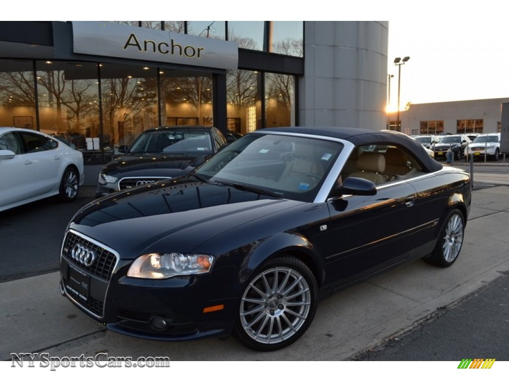 2009 audi a4 3 2 quattro cabriolet in moro blue pearl. Black Bedroom Furniture Sets. Home Design Ideas