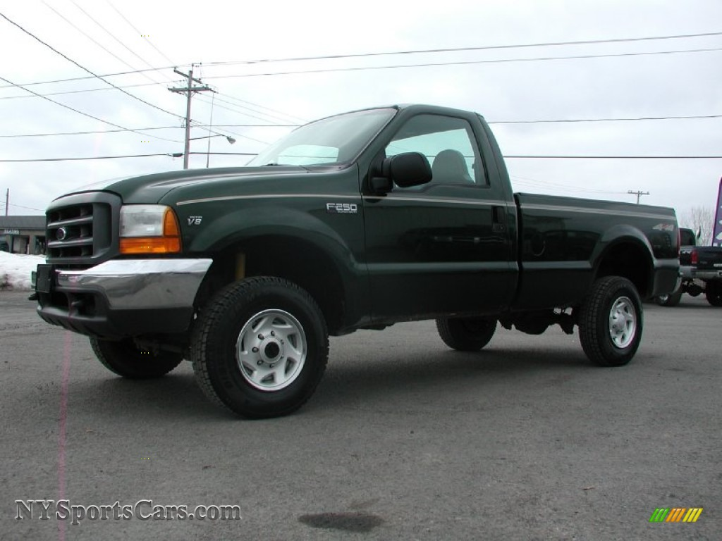1999 F250 Super Duty XL Regular Cab 4x4 - Dark Hunter Green Metallic ...