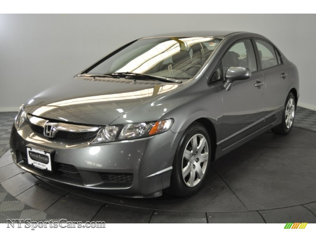 2008 Civic LX Sedan - Galaxy Gray Metallic / Gray photo #1