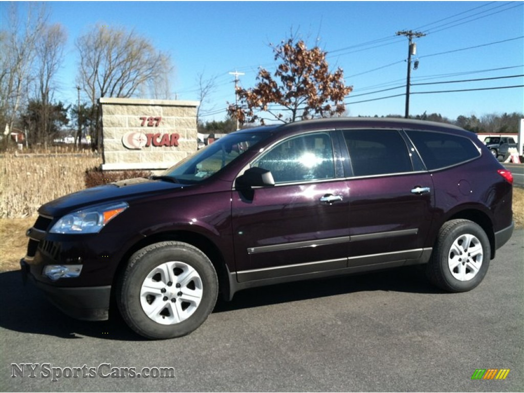 2010 chevrolet traverse ls awd in dark cherry metallic 103660 nysportscars com cars for