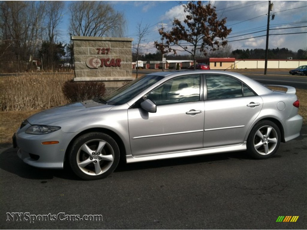 2004 mazda mazda6 i sport sedan in glacier silver metallic n15032 cars. Black Bedroom Furniture Sets. Home Design Ideas