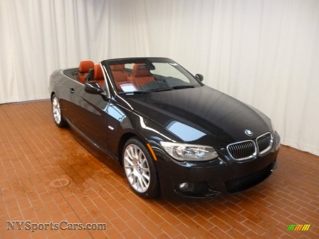 Black Sapphire Metallic Coral Red BMW 3 Series 328i Convertible
