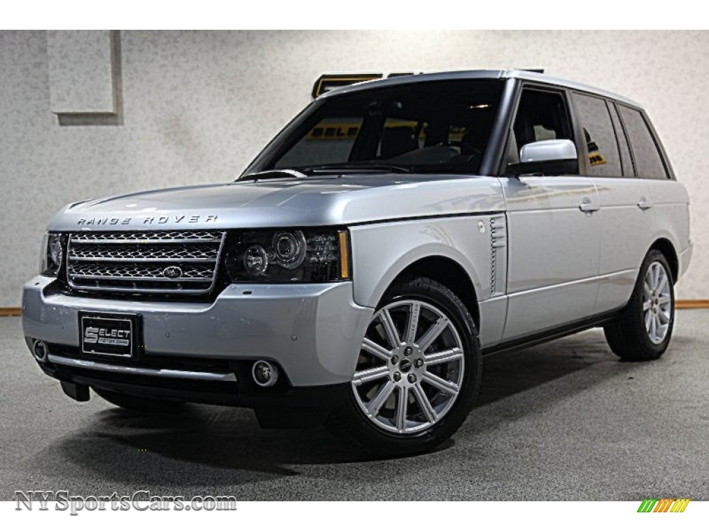 2012 land rover range rover supercharged in indus silver metallic 370638. Black Bedroom Furniture Sets. Home Design Ideas