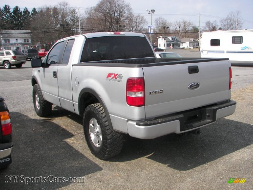 2005 f150 fx4 supercab 4x4 silver metallic black photo 4