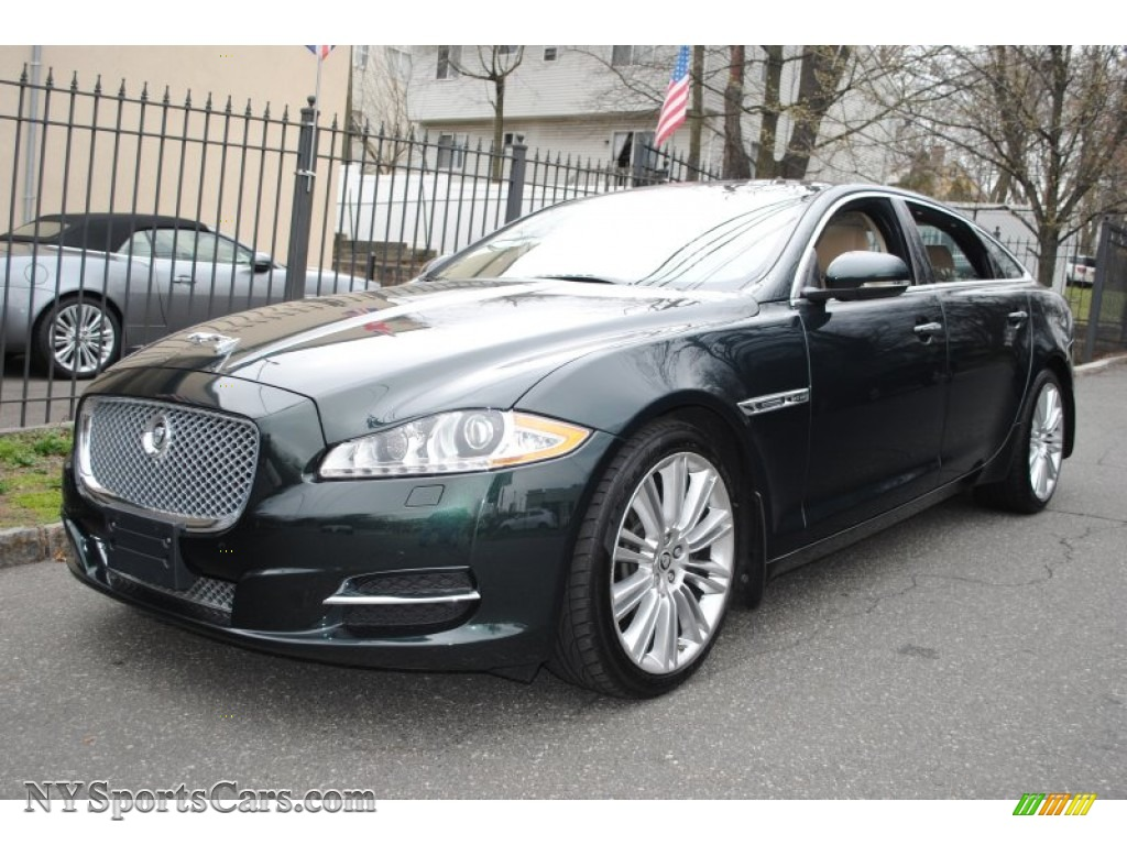2011 XJ XJL Supercharged - Botanical Green Metallic / Cashew/Truffle photo #1