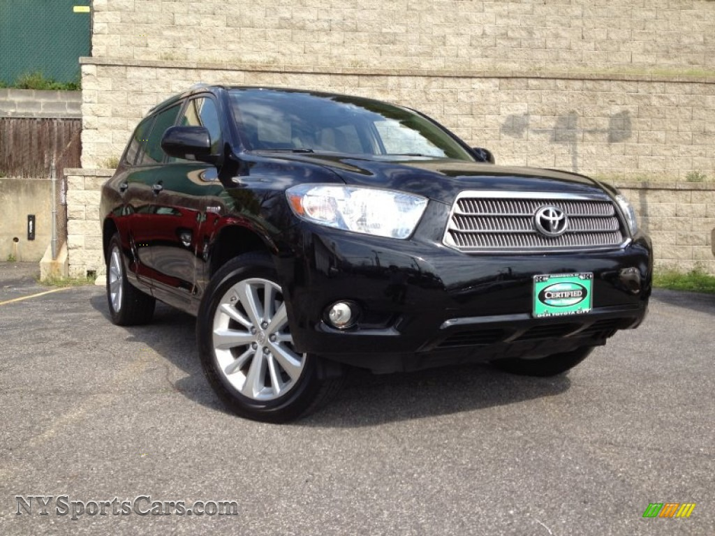 2009 toyota highlander hybrid limited 4wd in black. Black Bedroom Furniture Sets. Home Design Ideas