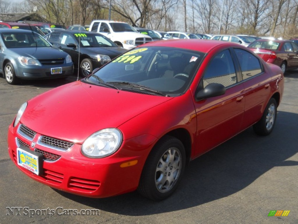 2005 dodge neon sxt in flame red - 173535 | nysportscars