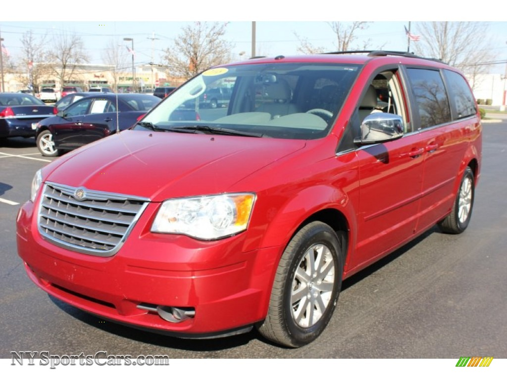 2008 chrysler town country touring in inferno red crystal pearlcoat 646772 nysportscars. Black Bedroom Furniture Sets. Home Design Ideas