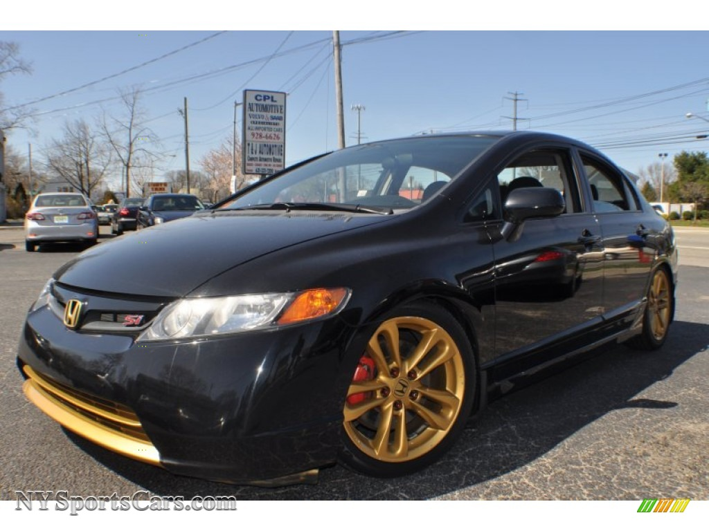 2008 Honda Civic Si Sedan in Nighthawk Black Pearl  709234