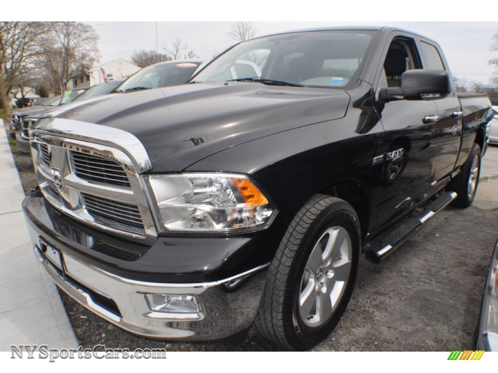 2010 dodge ram 1500 big horn quad cab 4x4 in brilliant black crystal pearl 183918. Black Bedroom Furniture Sets. Home Design Ideas