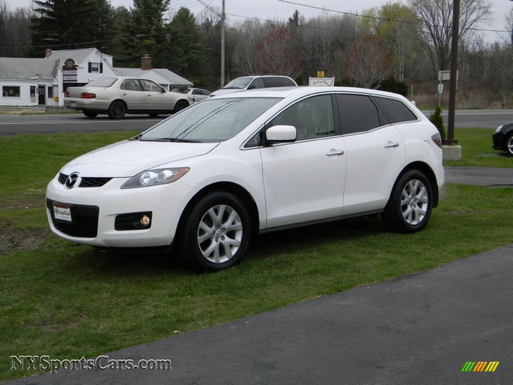 2007 mazda cx 7 grand touring awd in crystal white pearl mica 122160 cars. Black Bedroom Furniture Sets. Home Design Ideas