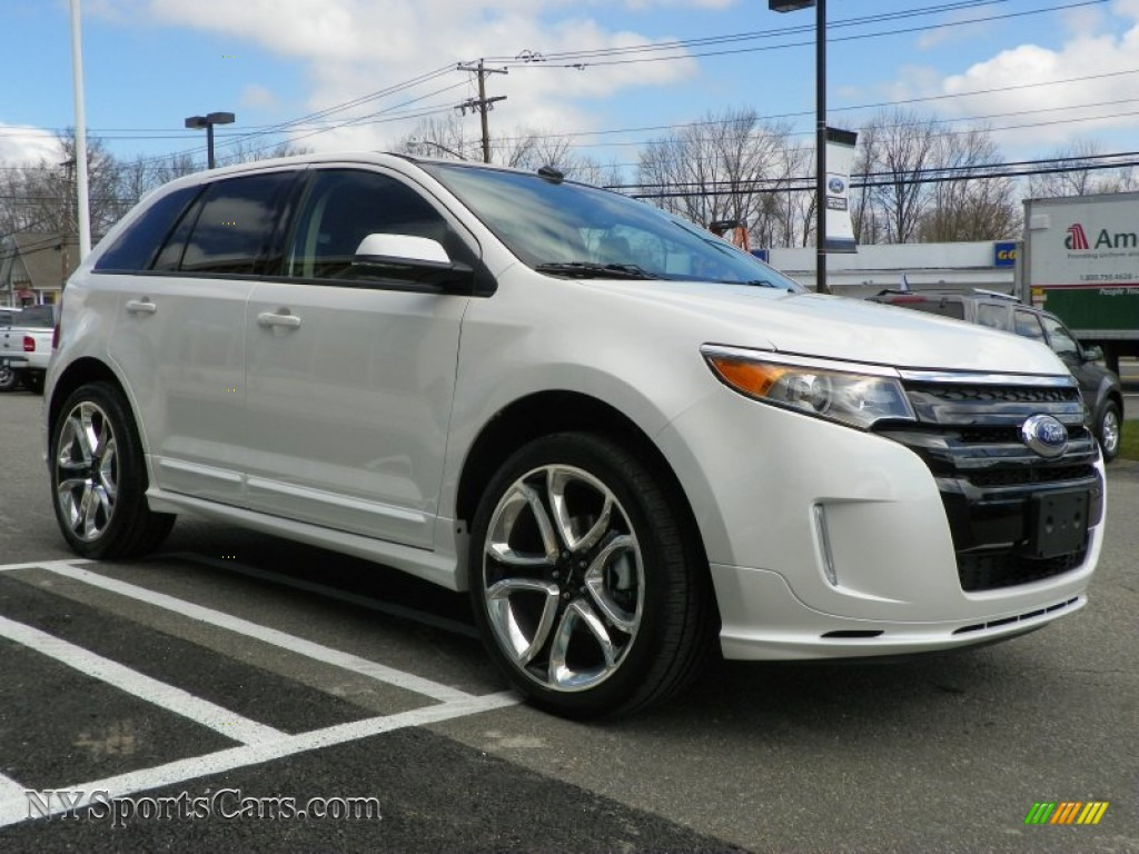 2013 ford edge sport awd in white platinum tri coat photo 4 a12887 cars. Black Bedroom Furniture Sets. Home Design Ideas