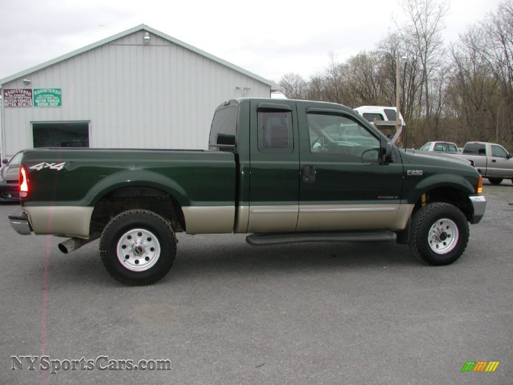 2000 Ford F250 Super Duty Lariat Extended Cab 4x4 In Woodland Green Metallic Medium Parchment Photo