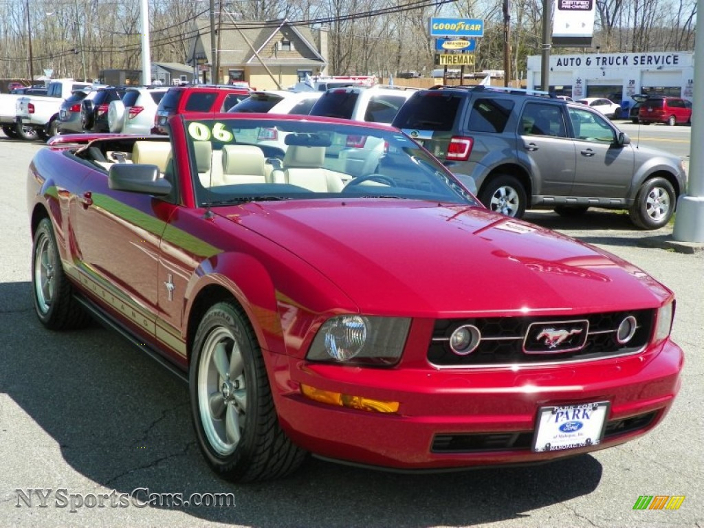 2006 Ford Mustang V6 Premium Convertible In Redfire