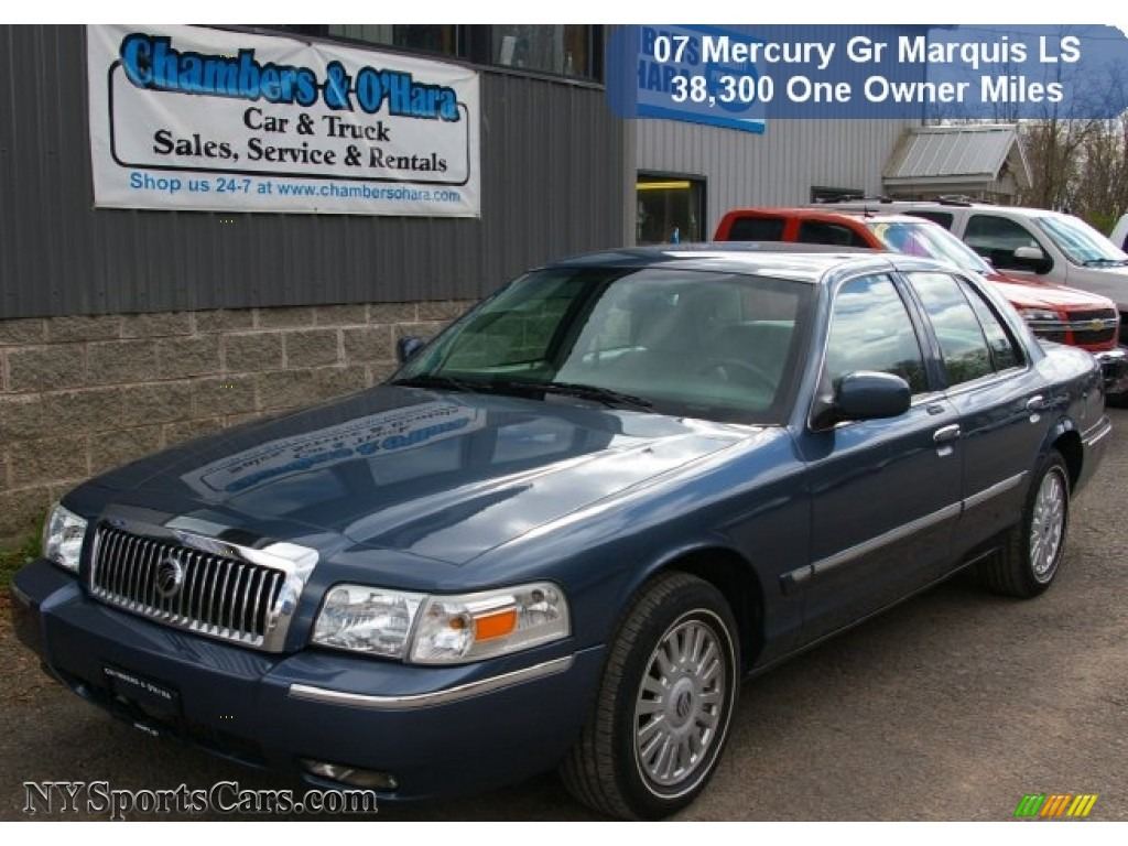 2007 mercury grand marquis ls in norsea blue metallic. Black Bedroom Furniture Sets. Home Design Ideas