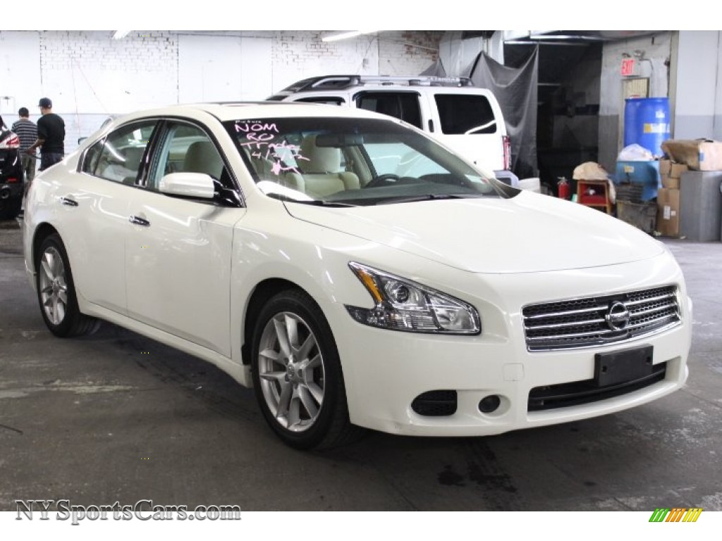 2009 nissan maxima 3 5 s in winter frost white 861345 cars for sale in. Black Bedroom Furniture Sets. Home Design Ideas