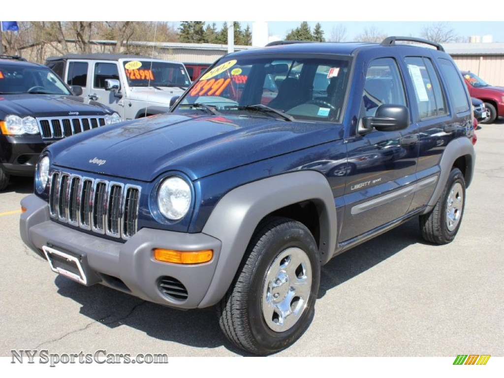 Liberty Buick Gmc U003eu003e 2002 Jeep Liberty Sport 4x4 In Patriot Blue Pearlcoat    337319