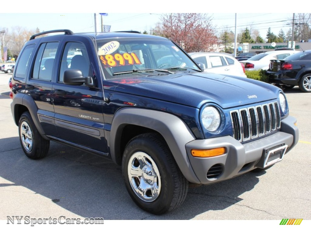 2002 jeep liberty sport 4x4 in patriot blue pearlcoat photo 18 337319. Black Bedroom Furniture Sets. Home Design Ideas