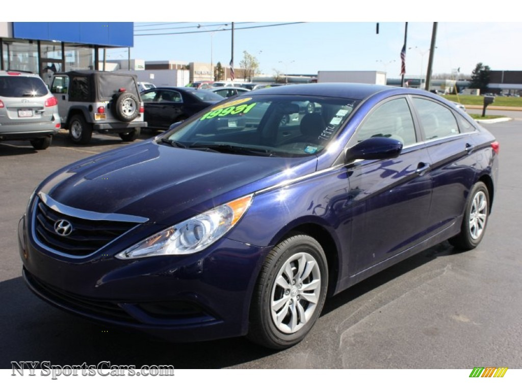 2012 hyundai sonata gls in indigo night blue 309530 cars for sale in new york. Black Bedroom Furniture Sets. Home Design Ideas