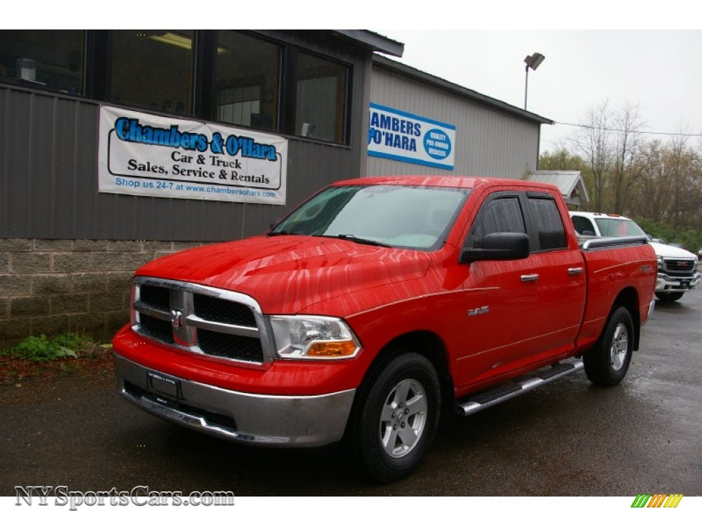 2010 dodge ram 1500 slt quad cab 4x4 in flame red 161735. Black Bedroom Furniture Sets. Home Design Ideas