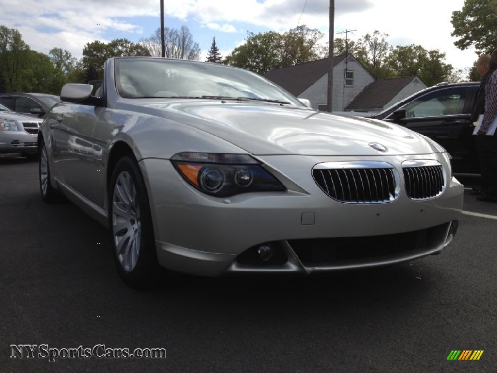 2004 bmw 6 series 645i convertible in mineral silver metallic 320457 cars. Black Bedroom Furniture Sets. Home Design Ideas