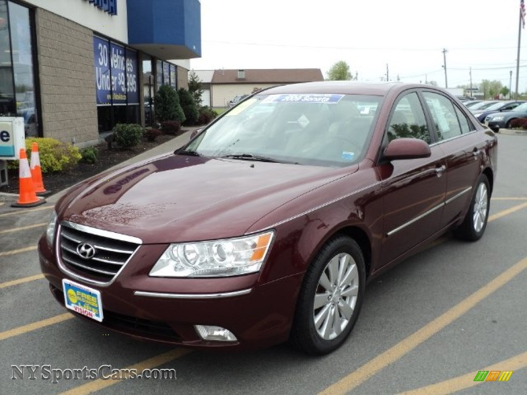 2009 Hyundai Sonata Limited V6 In Dark Cherry Red 430854