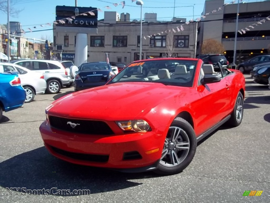2011 Ford Mustang V6 Premium Convertible in Race Red - 159459 ...
