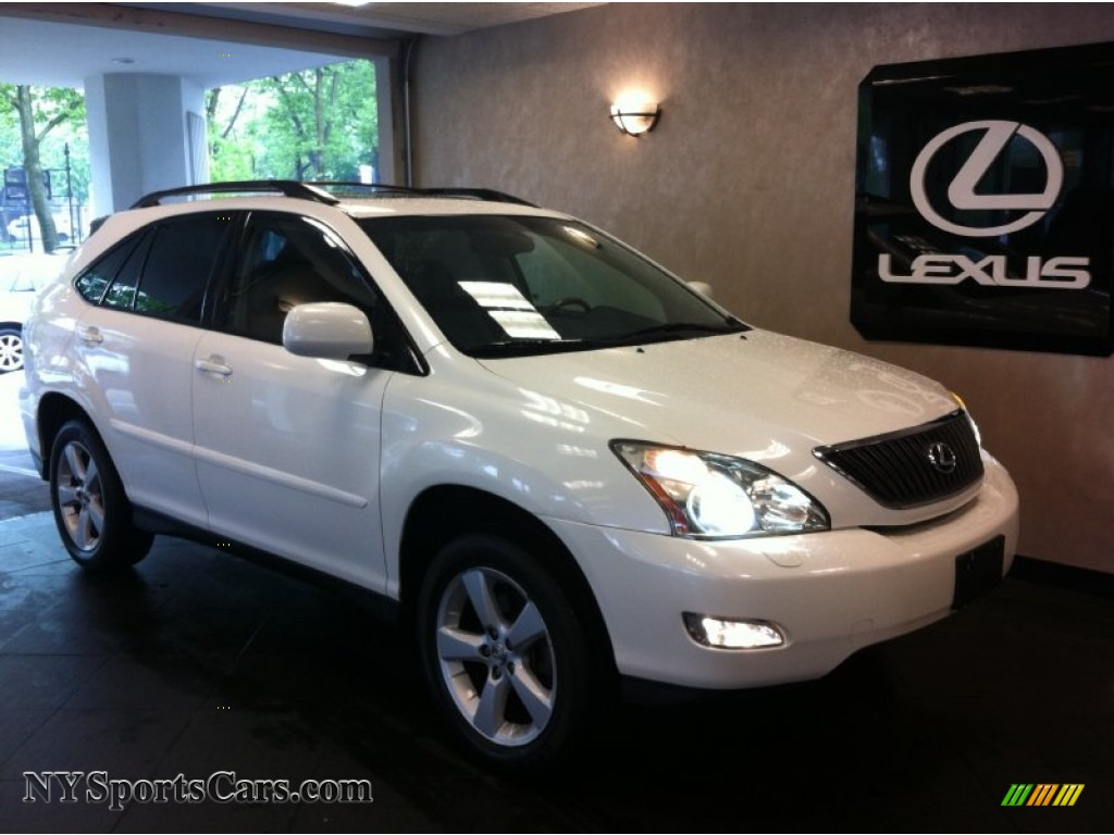 Crystal white pearl light gray lexus rx 330 awd