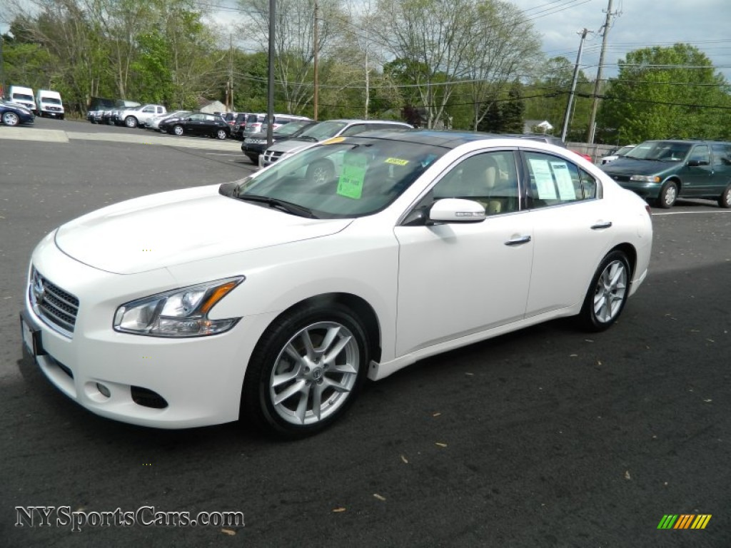 2009 nissan maxima 3 5 sv in winter frost white 837515 cars for sale in. Black Bedroom Furniture Sets. Home Design Ideas