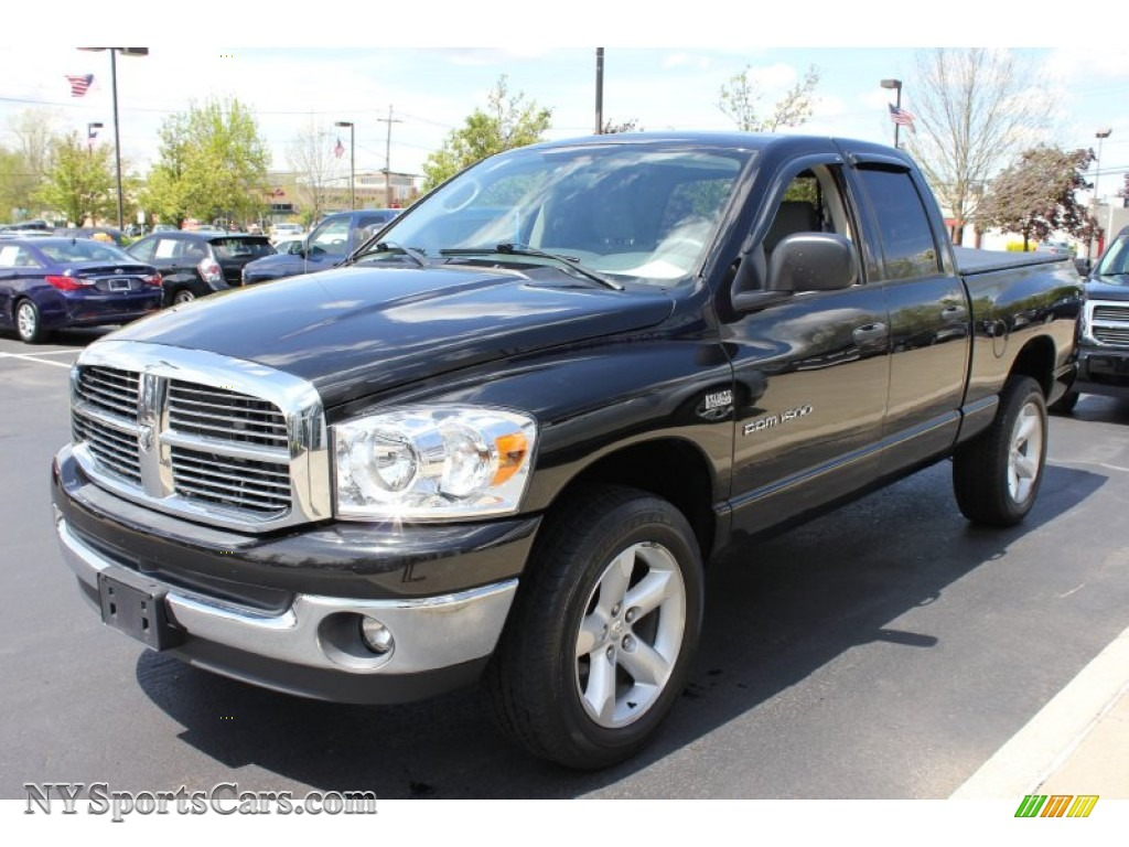 2007 dodge ram 1500 slt quad cab 4x4 in brilliant black crystal pearl 241559 nysportscars. Black Bedroom Furniture Sets. Home Design Ideas