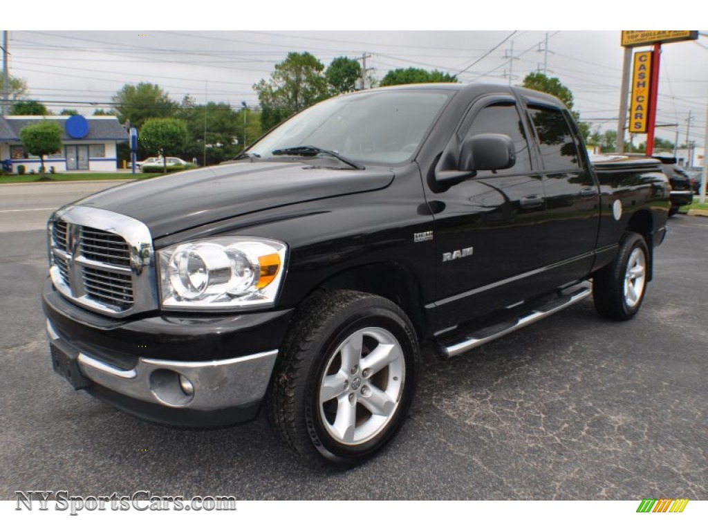 2008 dodge ram 1500 big horn edition quad cab 4x4 in brilliant black crystal pearl 521581. Black Bedroom Furniture Sets. Home Design Ideas