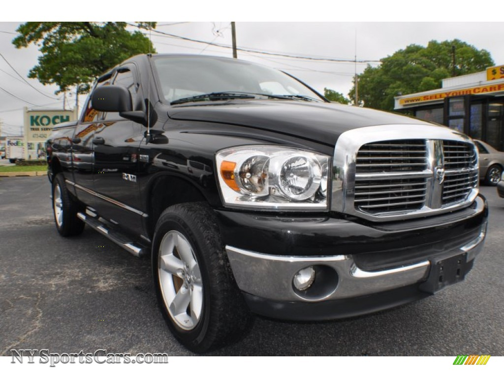 2008 dodge ram 1500 big horn edition quad cab 4x4 in brilliant black crystal pearl photo 4. Black Bedroom Furniture Sets. Home Design Ideas