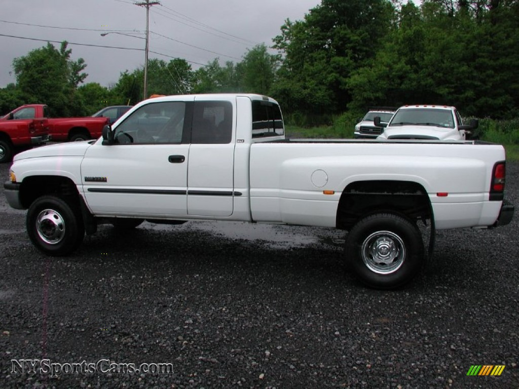 2000 dodge ram 3500 slt extended cab 4x4 dually in bright white photo 5 136034 nysportscars. Black Bedroom Furniture Sets. Home Design Ideas