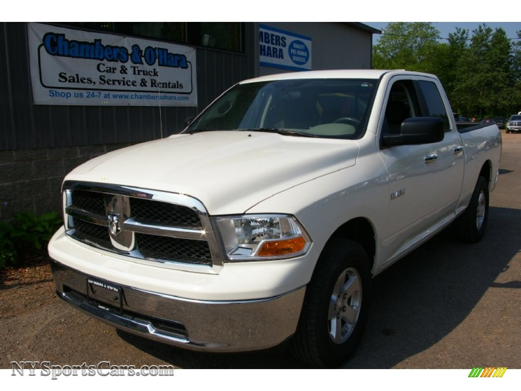 2009 dodge ram 1500 slt quad cab 4x4 in stone white. Black Bedroom Furniture Sets. Home Design Ideas