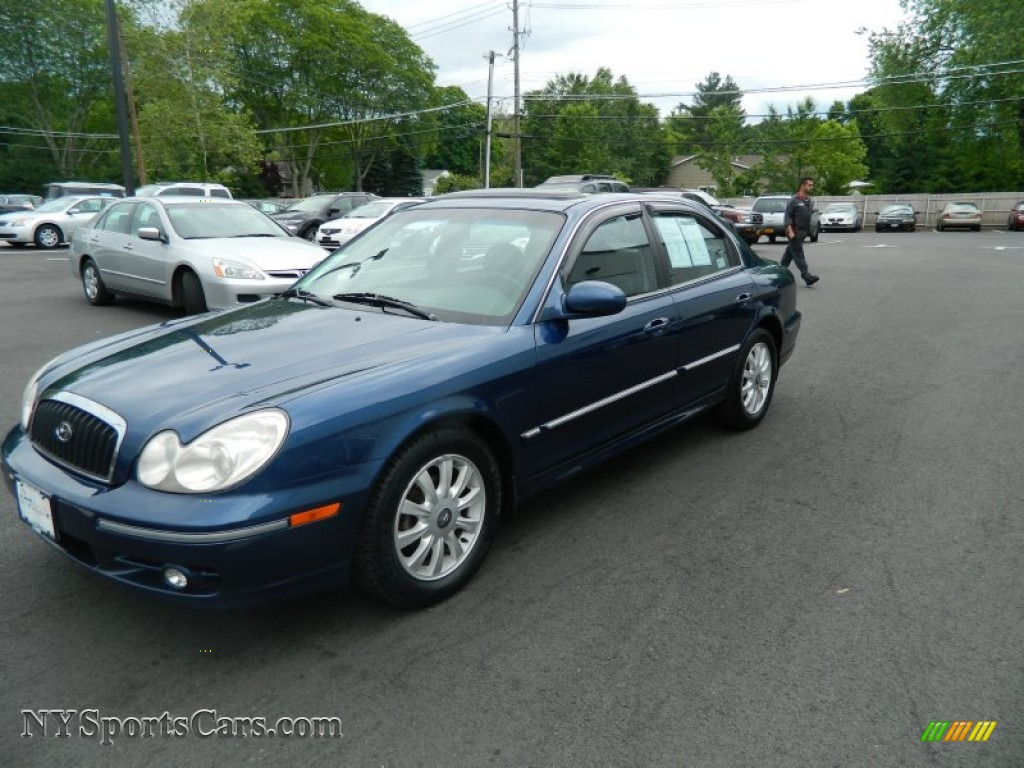 2002 hyundai sonata gls v6 in ardor blue 592820 nysportscars com cars for sale in new york nysportscars com