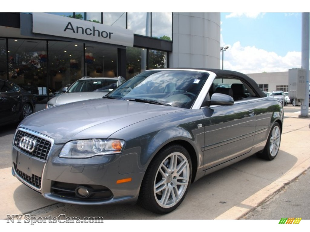 2009 audi a4 2 0t quattro cabriolet in meteor grey pearl effect 008460. Black Bedroom Furniture Sets. Home Design Ideas