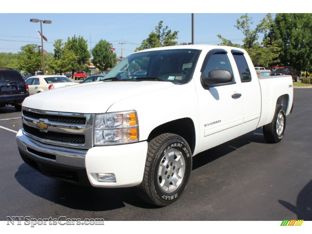 2010 chevrolet silverado 1500 lt extended cab 4x4 in summit white 187054. Black Bedroom Furniture Sets. Home Design Ideas