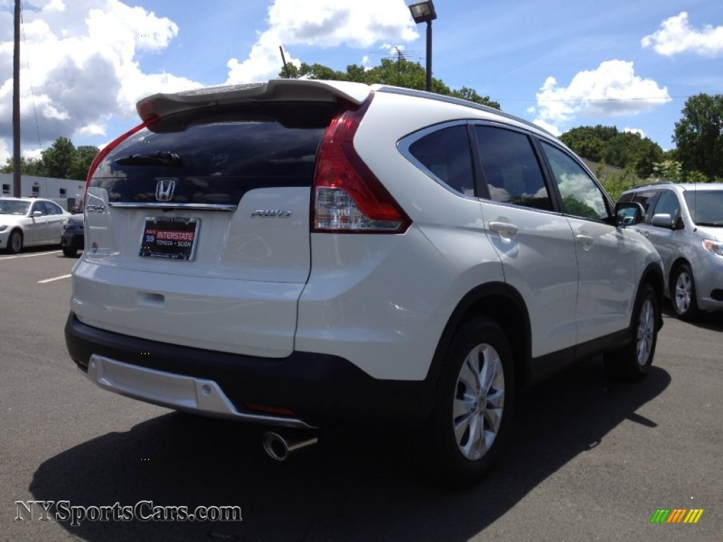 2012 Honda Cr V Ex L 4wd In White Diamond Pearl Photo 5